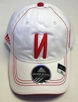 NCAA Nebraska Cornhuskers Adidas White Curve Brim Cap Hat NE