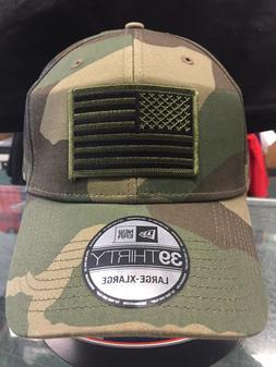 New Era NE1000 Camo FlexFit Hat/Cap With Green American Flag