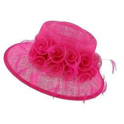 New Angela & William Women's Sinamay Fascinator Hat with Flo
