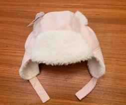 NEW Old Navy Baby Girls 0-6 12-18 MONTHS Pink Trapper Hat Wi