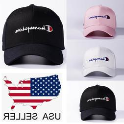 New Champion Hip Hop Hat Sport Baseball Cap Snapback Embroid