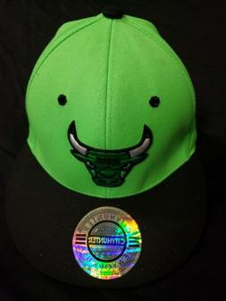 NEW City Hunter Chicago Bulls Neon Green & Black Adjustable