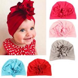 New fashion flower baby hat newborn elastic cotton  baby tur