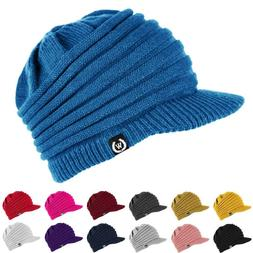 NEW Fashion Unisex Winter Visor Beanie Knit Hat Cap Crochet