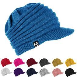 NEW Fashion Unisex Winter Visor Beanie Knit Hat Cap Crochet