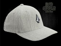 New Volcom Full Stone Heather Gray Flex Fit Mens Cap Hat