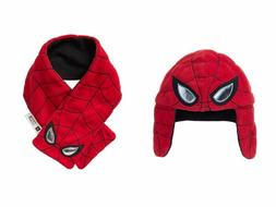 New Gap Boys infant Toddler Hat Scarf Spiderman Marvel Fleec