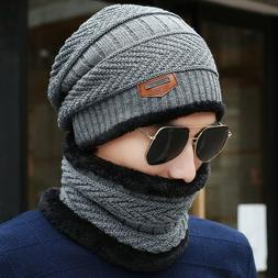 New Knitted Winter Hat Face Scarf Beanies Knit Men's Winter