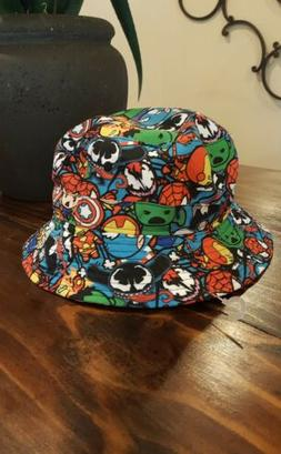NEW MARVEL COMICS AVENGERS MULTICOLORED BUCKET HAT TODDLER B