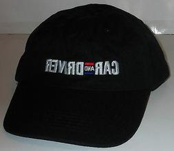 NEW!  MENS CAR AND DRIVER BLACK NOVELTY SOFT BASEBALL CAP /