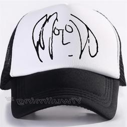 New Summer Trucker Caps john lennon Cool Summer Black Adult