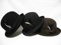 New Vintage Soft  100% wool Men & women Bowler Derby  fedora