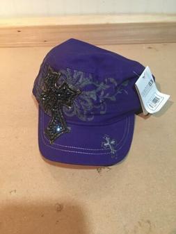 KBEthos New Western Womens Hat Cross Purple