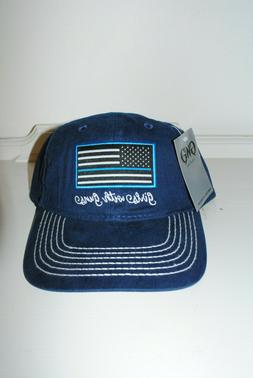 """NEW  Women's American Flag """"Support the Blue"""" Novelty Hats O"""