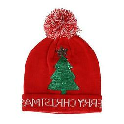 New CTM Women's Novelty Holiday Cuff Beanie Hat