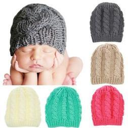 Newborn Baby Boy Girl Winter Knitted Warm Hats Crochet Beani