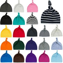 Newborn Baby Boys Girls Toddler Infant Knot Cotton Hat Beani