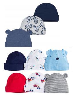 Gerber Newborn Baby Infant Boy Assorted Hats Cap 6-Pack Size