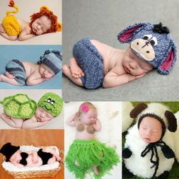 Newborn Cute Baby Girls Boys Crochet Knit Costume Photo Phot