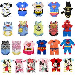 Newborn Infant Baby Boy Girls Romper Bodysuit Jumpsuit Plays