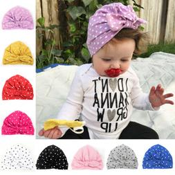 Newborn Infant Toddler Kids Baby Boys Girls Turban Cotton Be
