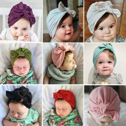 For Newborn Toddler Kids Baby Girl Boy Turban Cotton Beanie