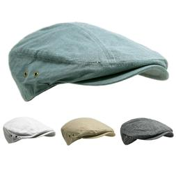 Newsboy Cotton Gatsby Hat Mens Ivy Cap Golf Summer Hat Flat