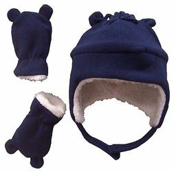 NICE CAPS Boys Toddler Baby Winter Snow Fleece Hat Mitten He