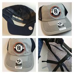 NWT Detroit Tigers 47 Hat Cap Grey Navy Blue Mesh Trucker Sn