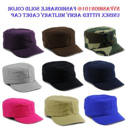 NYFASHION101® Fashionable Solid Unisex Fitted Army Military