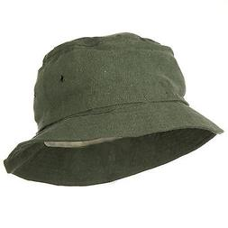 Olive Drab Boonie Outdoors Hat With Mosquito Netting S/M
