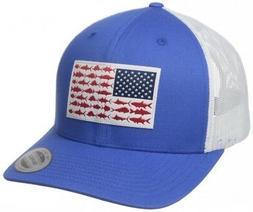 PFG Mesh Columbia Ball Cap Hat Snap Back Titanium Fish Flag