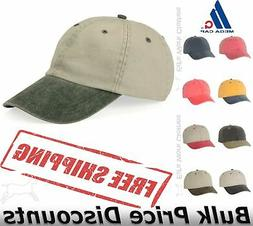 Mega Cap Pigment Dyed Cotton Twill Cap Hat Blank Plain Ball