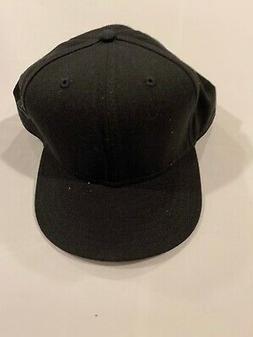 NEW ERA Plain Black 7 7/8 Umpire Baseball hat cap - NWOT!