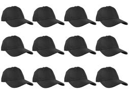 plain blank solid adjustable baseball cap hats