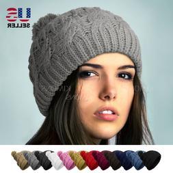 POM-POM Knit Slouchy Baggy Beanie Oversize Winter Hat Ski Ca