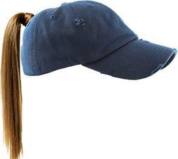 KBETHOS PONY-001 NAV Ponytail Messy High Bun Headwear Adjust