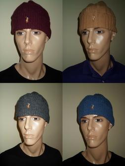 POLO RALPH LAUREN PONY LOGO WOOL/NYLON SKULL BEANIE HAT CAP