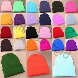 Pro Men's Women Beanie Knit Ski Cap Unisex Hip-Hop Blank Win