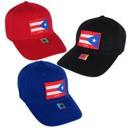Puerto Rico Flag Patch Baseball Cap New Hat Blue Red Black