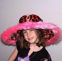 PURPLE CRAZY WILD HAT W FLAMES HT018 fashion party hats MENS
