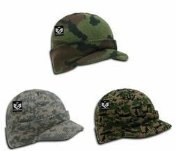 RapDom Camo Jeep Cap w/ Visor Military Hat Knit Beanie Warm