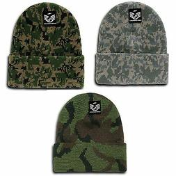 RapDom Military Camouflage Cuffed Beanies Knit Winter Watch
