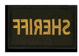 "Rapid Dominance Canvas Sheriff Patch 3x2"" for T75/T79 Hat Ca"