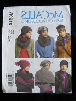 McCall's M6810 Winter Accessories Men's Women's Unisex Hat