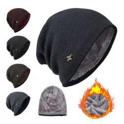 Skullies Casual Beanies Men's Knitted Hat Winter Warm Hat Th