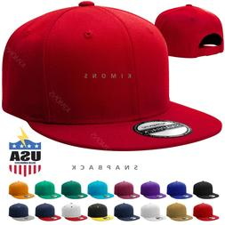Snapback Hat Hip Hop Baseball Cap Hats Plain Flat Mens Milit