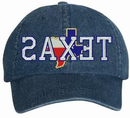 State of Texas Embroidered Denim Mega Cap 7610 Adjustable Ba