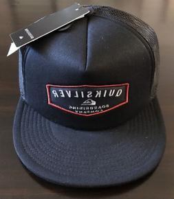 New Quiksilver Striped Vee Trucker Mens Snapback Cap Hat STY