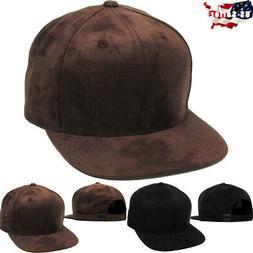 Suede Strapback Hat Cap Snapback Flat Brim KBETHOS
